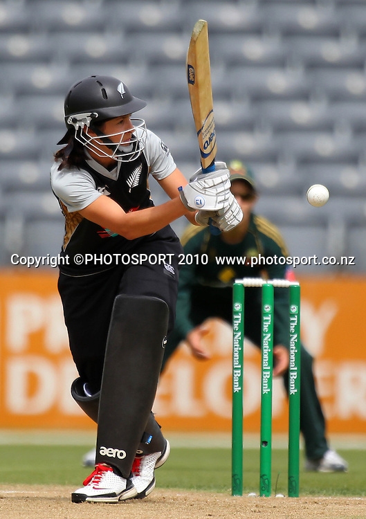 Sara McGlashan. Women's International Twenty20 cricket match - New Zealand White Ferns v Australia Southern Stars at AMI Stadium, Christchurch. Sunday 28 February 2010.