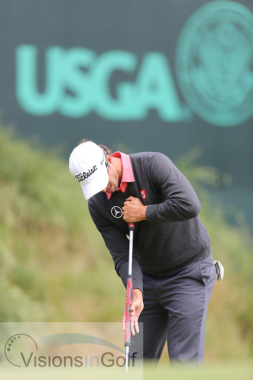 Adam Scott<br /> on the second day at the US Open Championship, Merion East, PA. USA 2013 <br /> Picture Credit:  Mark Newcombe / visionsingolf.com