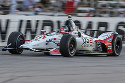 June 9, 2018 - Fort Worth, Texas, U.S - Andretti Herta Autosport with Curb-Agajanian driver Marco Andretti (98) of United States in action during the DXC Technology 600 race at Texas Motor Speedway in Fort Worth,Texas. (Credit Image: © Dan Wozniak via ZUMA Wire)