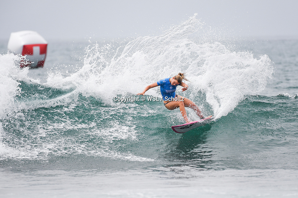 Bianca Buitendag placed second in Heat 5 of Round One at the Swatch Women's Pro.