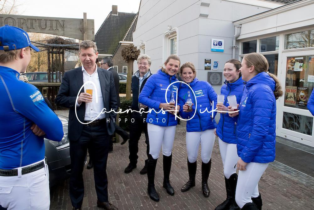 Bavaria 0.0 Eventing Team, Pen Elaine, Wilken Jordi, Larisa Hartkamp, De Jong Sanne, Van de Kuylen Joyce , Pieter Swinkels<br /> © Hippo Foto - Dirk Caremans<br /> 15/02/2017