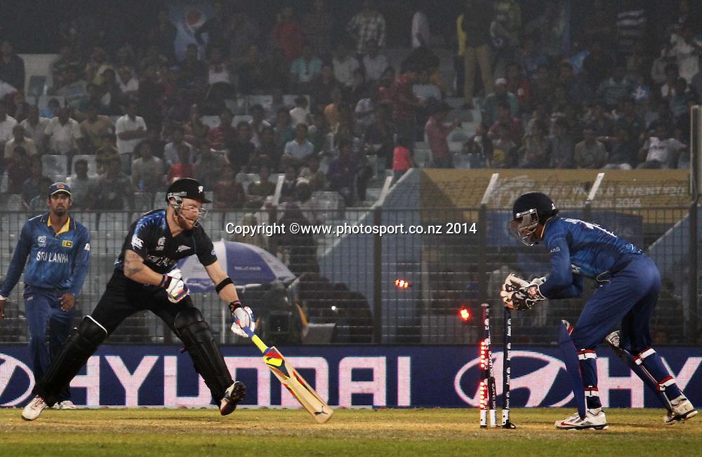 Brendon McCullum - ICC World Twenty20 cricket, Zahur Ahmed Chowdhury Stadium, Chittagong, Bangladesh. New Zealand v Sri Lanka, 31 March 2014. Photo: www.photosport.co.nz
