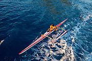 Outrigger Canoe, Vaitape, Bora, Bora, French Polynesia, South Pacific