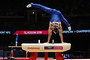 Max Whitlock (Great Britain) the pommel horser competition during the presentation of the teams during the European Championships Glasgow 2018, Team Men Final at The SSE Hydro in Glasgow, Great Britain, Day 10, on August 11, 2018 - Photo Laurent Lairys / ProSportsImages / DPPI