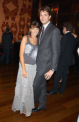 KRIS THYKIER and CLAUDIA WINKLEMAN at a party to celebrate the publication of Air Babylon by Imogen Edwards-Jones held at Fifty, 50 St.James's Street, London SW1 on 4th July 2005.<br />