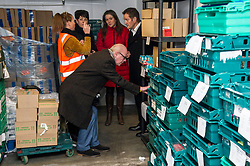 Pictured: Lynne Collie, depot manager showed Elena Whitham, Kevin stewart, Aileen Campbell and Jon Sparkes the cold store.<br /> <br /> Today, Communities Secretary Aileen Campbell was joined by Councillor Elena Whitham, Cosla Community Wellbeing Spokesperson, Kevin Stewart, Minister for Local Government, Housing and Planning and Jon Sparkes Chief Executive of Crisis as she visited Cyrenians' Good Food depot where she met staff at the depot and toured the facility which redistributes surplus food to not-for-profit organisations. <br /> <br /> Ger Harley | EEm 27 November 2018