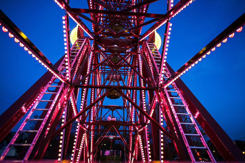 The vertically revolving patio (Ferris wheel) is a popular draw to Betty Danger's Country Club in Minneapolis. The standard Danger Experience on the wheel includes a beverage and a 20-minute rotating experience. Snacks are also available as add-ons. Photographed  May 9, 2015. (Courtney Perry)
