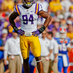 Oct 12, 2013; Baton Rouge, LA, USA; LSU Tigers defensive end Danielle Hunter (94) against the Florida Gators during the first half of a game at Tiger Stadium. Mandatory Credit: Derick E. Hingle-USA TODAY Sports