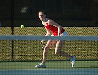 St Paul's School varsity girls tennis with New Hampton.  ©2018 Karen Bobotas Photographer