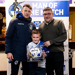 Match Ball Sponsor after the final whistle of the match with Ollie Clarke of Bristol Rovers  - Mandatory by-line: Ryan Hiscott/JMP - 01/12/2019 - FOOTBALL - Memorial Stadium - Bristol, England - Bristol Rovers v Plymouth Argyle - Emirates FA Cup second round