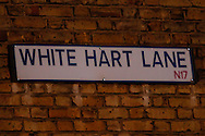 General view of White Hart Lane sign before the UEFA Europa League match at White Hart Lane, London<br /> Picture by David Horn/Focus Images Ltd +44 7545 970036<br /> 27/02/2014