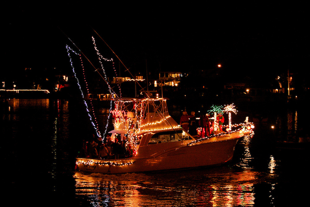 Jim Freeman's boat participates in the North Carolina Holiday Flotilla at Banks Channel, Wrightsville Beach...Photo by Logan Mock-Bunting