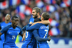 29.03.2016, Stade de France, St. Denis, FRA, Testspiel, Frankreich vs Russland, im Bild kante n'golo, gignac andre pierre, griezmann antoine, pogba paul - 19 - // during the International Friendly Football Match between France and Russia at the Stade de France in St. Denis, France on 2016/03/29. EXPA Pictures © 2016, PhotoCredit: EXPA/ Pressesports/ LAHALLE PIERRE<br /> <br /> *****ATTENTION - for AUT, SLO, CRO, SRB, BIH, MAZ, POL only*****
