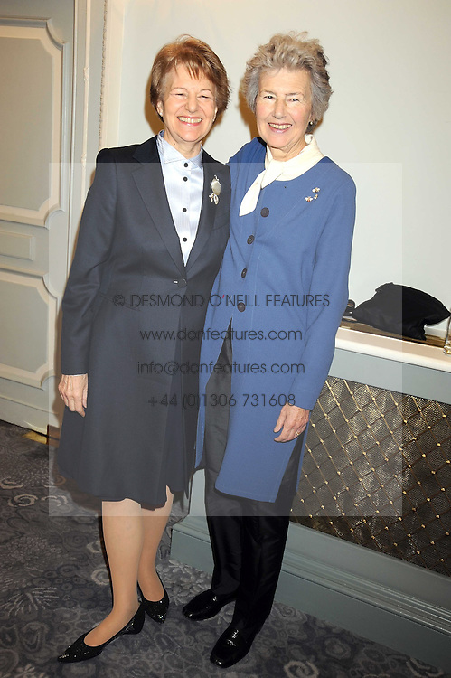 Left to right, BARONESS NICHOLSON OF WINTERBOURNE and LADY LUCE at a fashion show and lunch in aid of  AMAR International Charitable Foundation held at The Dorchester, Park Lane, London W1 on 9th October 2008.