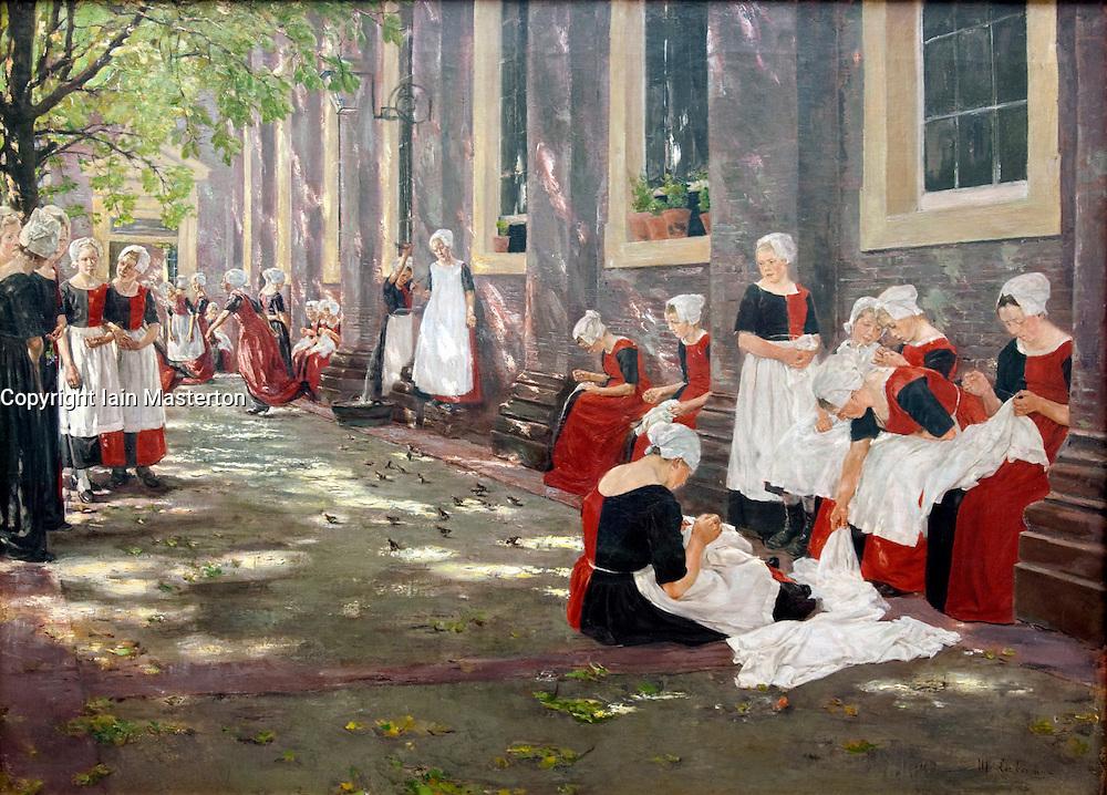 Free Period in the Amsterdam Orphanage at Stadel art museum or Städelsches Kunstinstitut und Städtische Galerie in Frankfurt