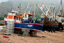 UK ENGLAND HASTINGS 6JUL06 - Hastings Stade is home to Britain's biggest fleet of beach-launched fishing boats with a history dating back more than a thousand years. The boats have to be hauled out of the sea after each trip, which stops them being more than about ten metres long. This means that they can only carry small amounts of gear and travel just a few miles. As a result the fleet has always fished in an ecologically sound way.  ..jre/Photo by Jiri Rezac / WWF UK..© Jiri Rezac 2006..Contact: +44 (0) 7050 110 417.Mobile:  +44 (0) 7801 337 683.Office:  +44 (0) 20 8968 9635..Email:   jiri@jirirezac.com.Web:    www.jirirezac.com..© All images Jiri Rezac 2006 - All rights reserved.