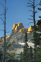 Liberty Bell Mountain at sunrise from Washington Pass, North Cascades Washington