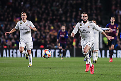 February 6, 2019 - Barcelona, Spain - 02 Carvajal of Real Madrid during the semi-final first leg of Spanish King Cup / Copa del Rey football match between FC Barcelona and Real Madrid on 04 of February of 2019 at Camp Nou stadium in Barcelona, Spain  (Credit Image: © Xavier Bonilla/NurPhoto via ZUMA Press)