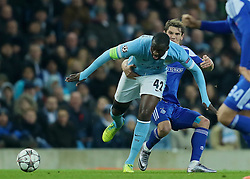 MANCHESTER, ENGLAND - Tuesday, March 15, 2016: Manchester City's Yaya Toure in action against FC Dynamo Kyiv during the UEFA Champions League Round of 16 2nd Leg match at the City of Manchester Stadium. (Pic by David Rawcliffe/Propaganda)