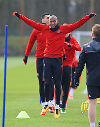 MANCHESTER, ENGLAND - Wednesday, March 16, 2016: Manchester United's Ashley Young during a training session at Carrington Training Ground ahead of the UEFA Europa League Round of 16 2nd Leg match against Liverpool. (Pic by David Rawcliffe/Propaganda)