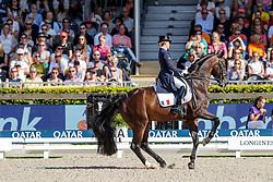 BARBANCON Morgan (FRA), SIR DONNERHALL II OLD<br /> Rotterdam - Europameisterschaft Dressur, Springen und Para-Dressur 2019<br /> Longines FEI Dressage European Championship <br /> Grand Prix Special<br /> 22. August 2019<br /> © www.sportfotos-lafrentz.de/Stefan Lafrentz