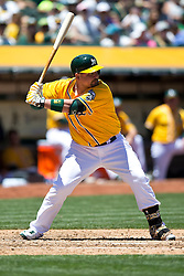 OAKLAND, CA - JUNE 18:  Billy Butler #16 of the Oakland Athletics at bat against the San Diego Padres during the fourth inning at O.co Coliseum on June 18, 2015 in Oakland, California. The San Diego Padres defeated the Oakland Athletics 3-1. (Photo by Jason O. Watson/Getty Images) *** Local Caption *** Billy Butler