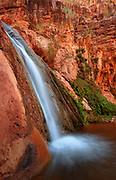 Waterfall along Stone Creek in Grand Canyon National Park.