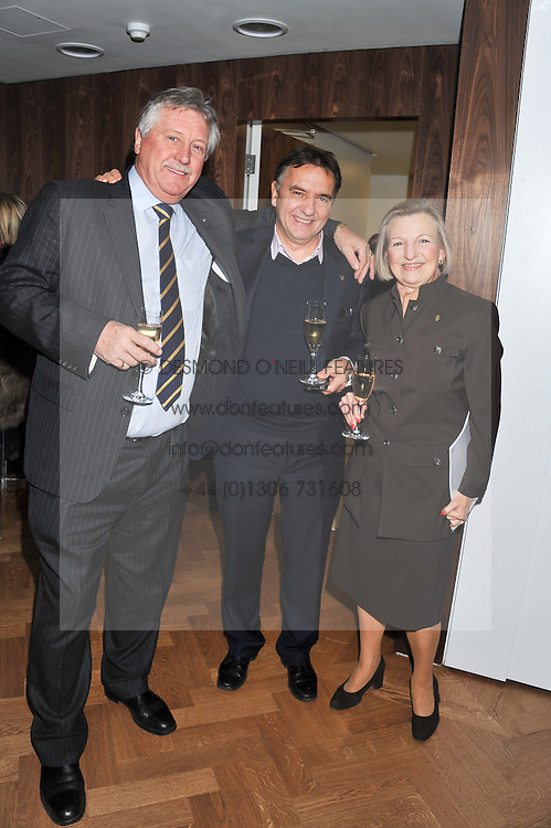 Left to right, Chef BRIAN TURNER, Chef RAYMOND BLANC and LESLEY GRAY Principal of Le Cordon Bleu Cookery School at the Grand Opening of Le Cordon Bleu's International Flagship School at 15 Bloomsbury Square, London WC1 on 7th February 2012.