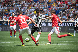 July 28, 2018 - Harrison, New Jersey, United States - Juventus midfielder SAMI KHEDIRA (6) attempts a shot defended by SL Benfica defender GERMÁN CONTI (2) and SL Benfica defender JARDEL (33) during the International Champions Cup at Red Bull Arena in Harrison, NJ.  Juventes vs Benfica (Credit Image: © Mark Smith via ZUMA Wire)