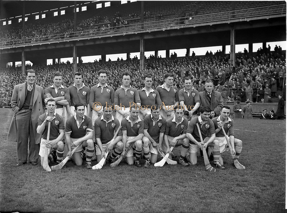 03/04/1955<br /> 04/03/1955<br /> 3 April 1955<br /> Railway Cup Final: Connacht v Munster at Croke Park, Dublin. Munster Team.