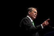 Speaker of the House, JOHN BOEHNER (R-OH) speaks at the annual Conservative Political Action Conference (CPAC) in Washington, D.C. on Thursday. ..CPAC, which began in 1973, attracts more than 10,000 people and The American Conservative Union, which runs it, announced it expected 1,200 members of the media.