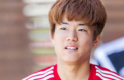 16.07.2014, Alois Latini Stadion, Zell am See, AUT, Bayer 04 Leverkusen Trainingslager, im Bild Seung-Woo Ryu (Bayer 04 Leverkusen) // Seung-Woo Ryu (Bayer 04 Leverkusen) during a Trainingssession of the German Bundesliga Club Bayer 04 Leverkusen at the Alois Latini Stadium, Zell am See, Austria on 2014/07/16. EXPA Pictures © 2014, PhotoCredit: EXPA/ JFK
