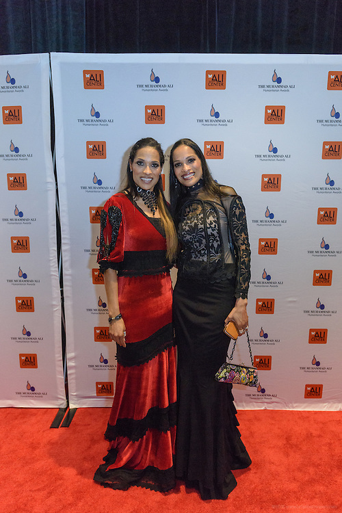 Rasheda and Jamilla Ali on the red carpet at the fourth annual Muhammad Ali Humanitarian Awards Saturday, Sept. 17, 2016 at the Marriott Hotel in Louisville, Ky. (Photo by Brian Bohannon for the Muhammad Ali Center)