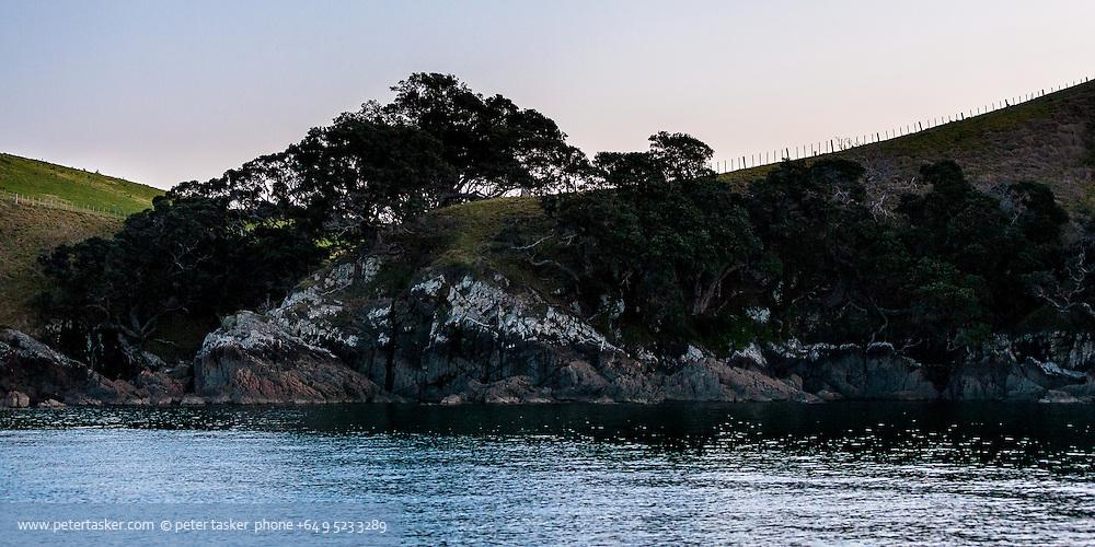 Hauraki Gulf evening. At anchor in Waikalabubu Bay.
