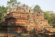 Cambodia, Angkor Thom, Royal Palace compound, the Phimeanakas Temple,