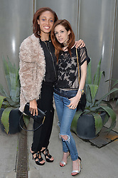 Left to right, ADWOA ABOAH and STEPHANIE LA CAVA at a supper and screening of 'No More Tiaras' a film by Mary Nighy held at Shrimpy's, King's Cross Filling Station, Goods Way, London on 7th May 2014.