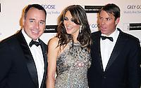 LONDON - NOVEMBER 10: David Furnish; Liz Hurley; Shane Warne attended the Grey Goose Winter Ball at Battersea Power Station, London, UK. November 10, 2012. (Photo by Richard Goldschmidt)