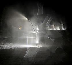 19.12.2011, Hochstein, Lienz, AUT, Vorbereitungsarbeiten am Hochstein anlaesslich des Skiweltcup der Damen in Lienz am Hochstein, im Bild Schneelanzen beschneien den Hang // during the preparation of the race way for Ladies Skiworldcup at Hochstein, Lienz, 19-12-2011, EXPA Pictures © 2011, PhotoCredit: EXPA/ M. Gruber