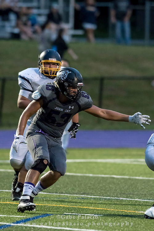 John Jay Varsity Football game v. Panas on September 10, 2016. (photo by Gabe Palacio)