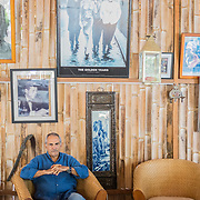 Former President of Timor-Leste and Nobel peace prize, José Ramos-Horta at his house on the beach, just outside the capital, Dili