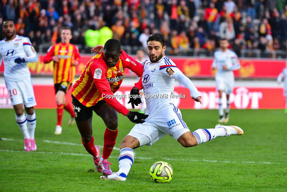 Nabil FEKIR / Boubacar SYLLA - 17.01.2015 - Lens / Lyon - 21eme journee de Ligue 1 <br />