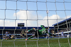 Leeds United's Jack Butland concedes a goal from QPR's Jermaine Jenas  - Photo mandatory by-line: Mitchell Gunn/JMP - Tel: Mobile: 07966 386802 01/03/2014 - SPORT - FOOTBALL - Loftus Road - London - Queens Park Rangers v Leeds United - Championship