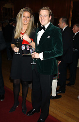 MR & MRS HARRY LAWSON-JOHNSTON at a fundraising dinner in aid of the Hoedspruit Endangered Species Foundation in the presence of TRH Rrince & Princess Michael of Kent at Kensington Palace, London on 2nd March 2006.<br />