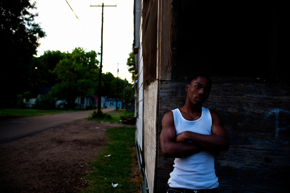 Trell Terry, 17, poses for a portrait in the Baptist Town neighborhood of Greenwood, Mississippi on Tuesday, May 18, 2010.