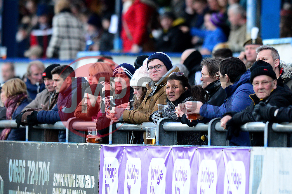Bristol Rugby fans  - Mandatory by-line: Dougie Allward/JMP - 28/01/2017 - RUGBY - Brewery Field - Bridgend, England - Ospreys v Bristol Rugby - Anglo Welsh Cup