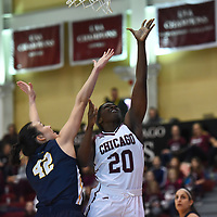 Women's Basketball: University of Chicago Maroons vs. Emory University Eagles. Chicago hold off Emory to win 60-56.<br /> (Credit: Dean Reid, d3photography.com)