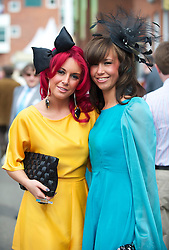LIVERPOOL, ENGLAND - Friday, April 9, 2010: Sian and Daniel from Liverpool on Ladies' Day during the second day of the Grand National Festival at Aintree Racecourse. (Pic by David Rawcliffe/Propaganda)
