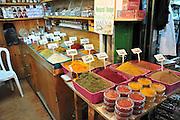 Shop sells spices the Market, Old city, Jerusalem, Israel