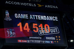 Sold out game during the 2017 IIHF Men's World Championship group B Ice hockey match between National Teams of Canada and France, on May 11, 2017 in AccorHotels Arena in Paris, France. Photo by Vid Ponikvar / Sportida