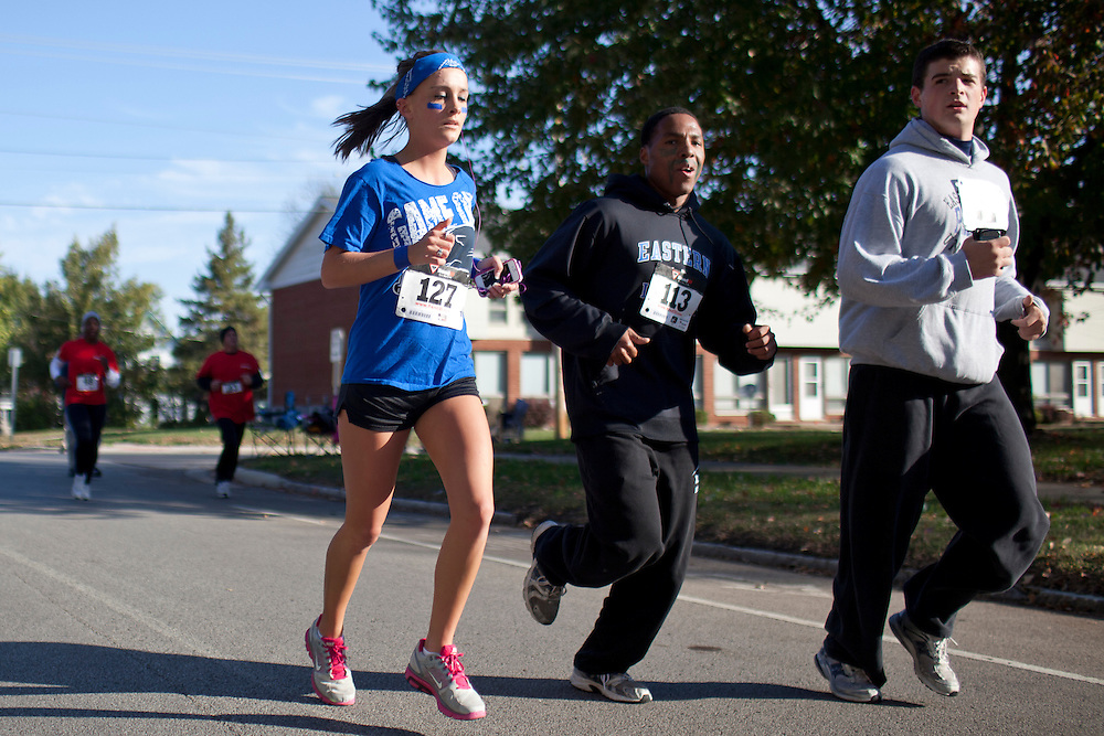 Photos from the 2.5K race/walk event during Eastern Illinois University Homecoming Saturday, Oct. 22, 2011, in Charleston, Ill. (STEPHEN HAAS)